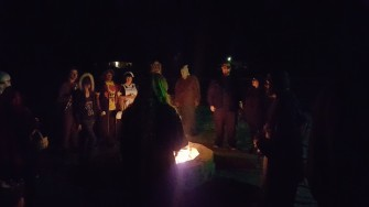 Halloween Party time by the fire